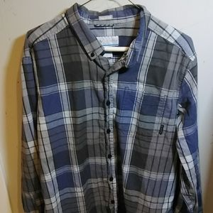 Columbia Button Down Long Sleeved Casual Shirt A+